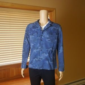 Gap Blue Camouflage Overshirt - NWT